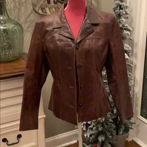 Wilson's Brown leather jacket Size Large GUC